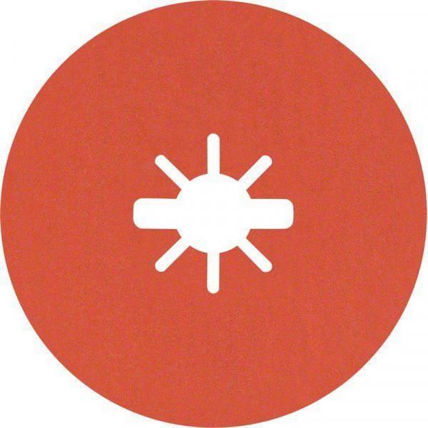 Bosch Professional EXPERT R782 Prisma Ceramic Fiberscheibe, X-LOCK, 125mm, 22,23mm, G 120, 5-tlg.. Für Winkelschleifer mit X-LOCK und mit Spannmutter - 2608621811