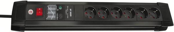 Brennenstuhl Premium-Line 30.000A presa multipla con protezione di sovratensione 6 prese nero 3m H05VV-F 3G1,5