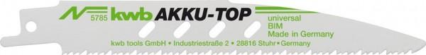 KWB Reciprozaagblad, metaal- en houtbewerking, bimetaal, 2 x fijn - 578500