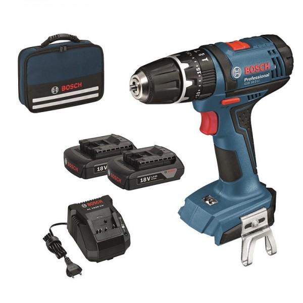 Bosch Trapani battenti – Avvitatori a batteria GSB 18-2-LI (2x1,5Ah) - 0615990K45