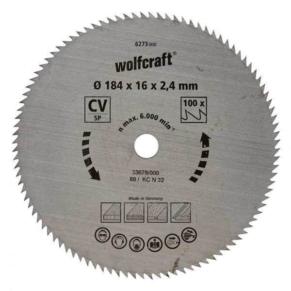 Wolfcraft lama per sega circolare CV, 100 denti