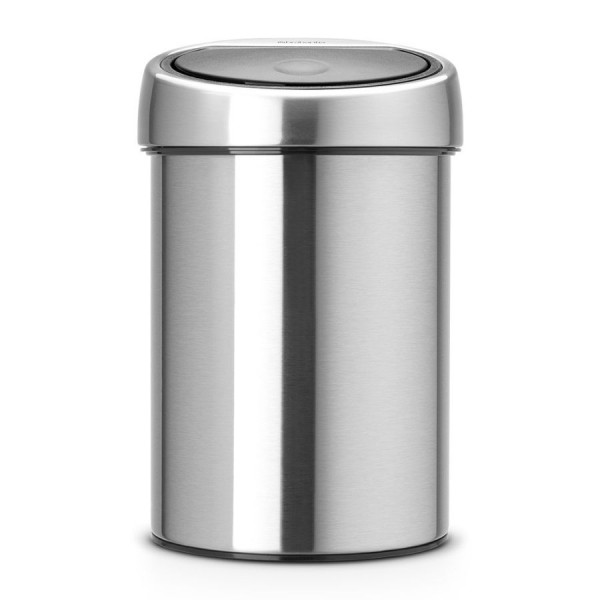Brabantia Poubelle Touch Bin®, 03 litres - Matt Steel Fingerprint Proof