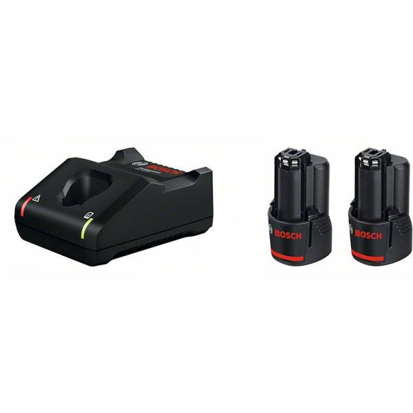 Bosch Professional Starter Set 2 batterie GBA 12V 2.0Ah + caricabatteria GAL 12V-40 - 1600A019R8