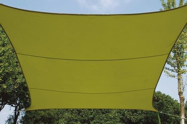 Perel ZONNEZEIL - VIERKANT - 3.6 x 3.6 m - KLEUR: LICHTGROEN