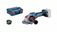 Bosch Smerigliatrice Angolare a batteria BITURBO, X-LOCK GWX 18V (senza batteria e caricabatteria) - 06019H6500