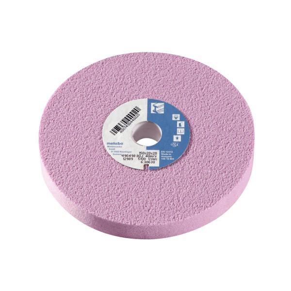 Metabo Disco abrasivo 150x20x20 mm, 80 J, corindón especial, para esmeriladora doble (630638000)