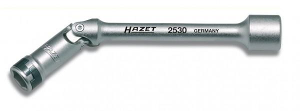 Hazet Glühkerzen-Steckschlüssel - Vierkant hohl 10 mm (3/8 Zoll) - Außen-Sechskant-Tractionsprofil - Schlüsselweite: 10 - Gesamtlänge: 140 mm - 2530