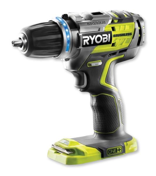 Ryobi Brushless Akku Bohrschrauber R18DDBL-0 One+ Ohne Akku & Ladegerät - 5133002437