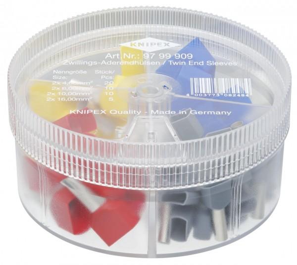 Knipex Boîtier d'assortiment avec embouts de câble jumelés - 97 99 909