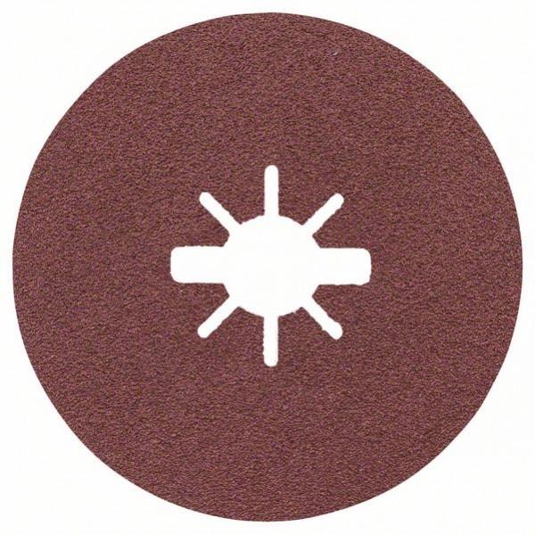 Bosch Dischi fibrati per levigatura X-LOCK Ø125 mm, G 80, R444, Expert for Metal, 1 pz. - 2608619174