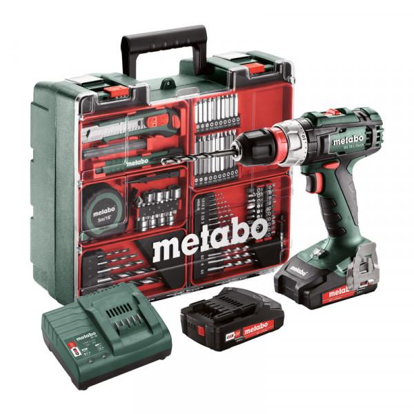 Metabo Perceuse-visseuse sans fil BS 18 L Quick Set, 18V 2x2Ah Li-Ion, Chargeur SC 30, Coffret, Atelier mobile - 602320870
