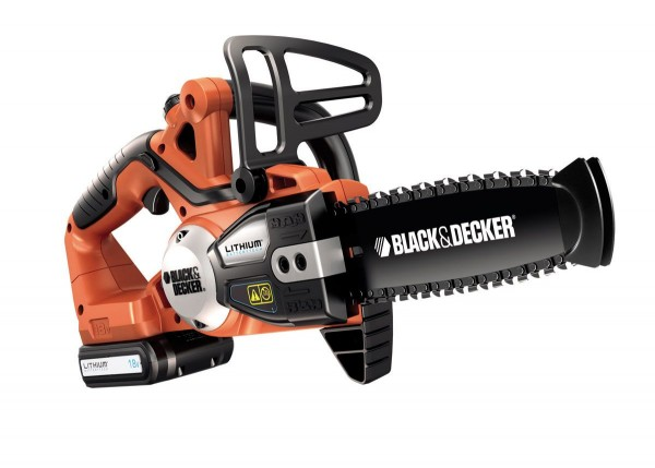 Black & Decker GKC1820L20K 18V Li-Ion Akku-Kettensäge inkl. Akku, Ladegerät, Werkzeugkoffer und Ersatzkette