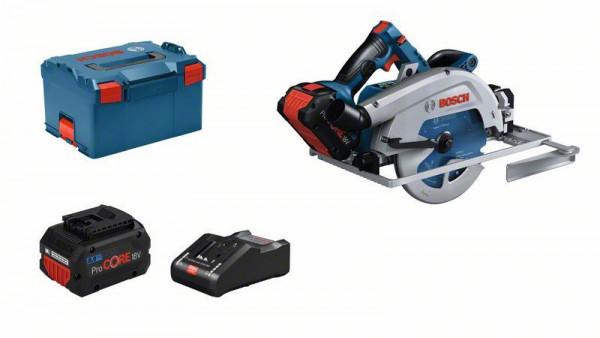 Bosch Professional Akku-Kreissäge BITURBO GKS 18V-68 GC, 2 x Akku ProCORE18V, Schnellladegerät GAL 18V-160 C - 06016B5101
