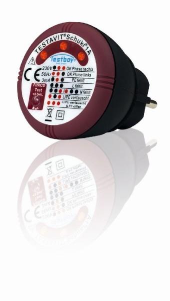 Testboy Appareil de contrôle pour prise de courant avec test différentiel - TVS 1A