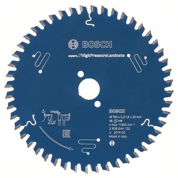 Bosch Kreissägeblatt Expert for High Pressure Laminate, 160 x 20 x 2,2 mm, 48