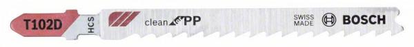 Bosch Lames de scie sauteuse T 102 D Clean for PP