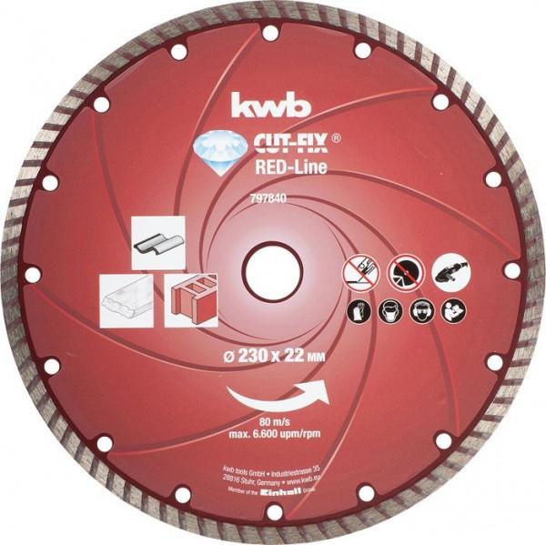 KWB CUT-FIX® Red-Line DIAMANT-doorslijpschijven, ø 230 mm - 797840