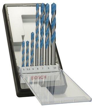 Bosch Forets polyvalents Robust Line CYL-9 Multi Construction, set de 7 pièces 5 - 5,5 - 6 - 6 - 7 - 8 - 10 mm