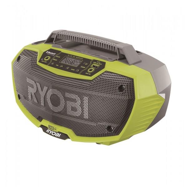 Ryobi Akku-Stereo-Radio mit Bluetooth, ohne Akku und Ladegerät - R18RH-0