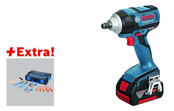 Bosch Professional Accudraaislagmoeraanzetter GDX 18 V-EC, met 2 x 5,0 Ah Accu, L-BOXX, Gedore-BOXX - 0615990J7E