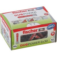 Fischer Cheville bi-matière DUOPOWER 6 x 30 sans vis, boîte à fenêtre - 535453