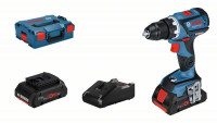 Bosch Professional Accuschroefboormachine GSR 18V-60 C, 2 accu's ProCORE18V, snellader GAL 18V-40 - 06019G110B