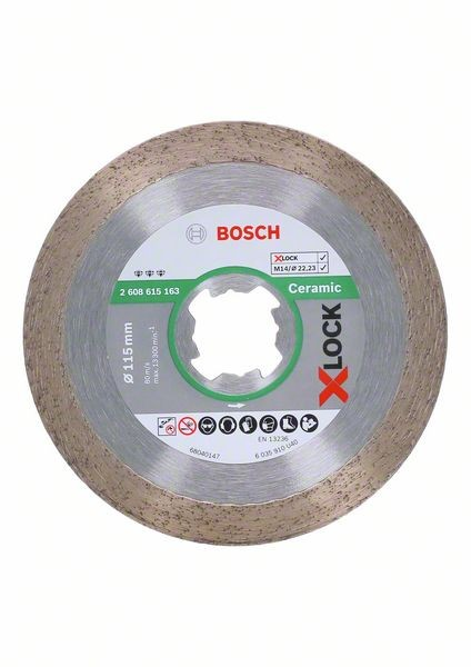Bosch Diamanttrennscheibe X-LOCK Best for Ceramic 115 x 22,23 x 1,8 x 10 mm - 2608615163