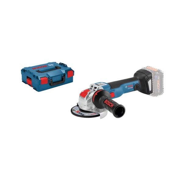 Bosch Professional Akku-Winkelschleifer GWX 18V-10 C, ohne Akku und Ladegerät, L-BOXX, mit X-LOCK - 06017B0200
