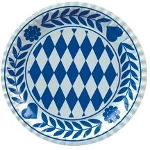 """Papstar Oktoberfest Pappteller 5x100 Teller rund Ø 23 cm """"Bayrisch Blau"""""""