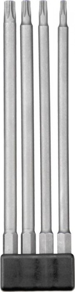 "KWB Set d´embouts INDUSTRIAL STEEL, 1/4"", extra longs, 4 pièces - 120930"