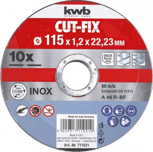 KWB CUT-FIX® doorslijpschijven extra dun, metaalbewerking, voordeelverpakking, ø 115 mm - 711921