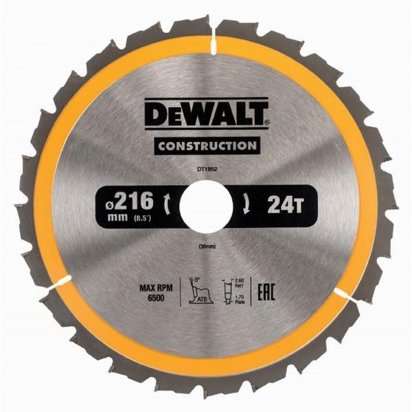 DeWALT Lama circolare, 216/30 mm, 24 denti - DT1952-QZ