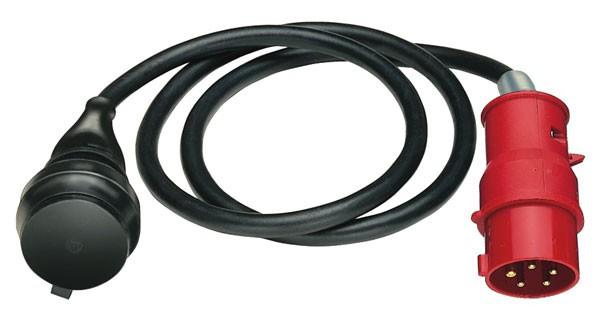 Brennenstuhl Adaptador de cable, IP44, 1,5m negro H07RN-F 3G1,5, CEE 400V/16A - 1132960