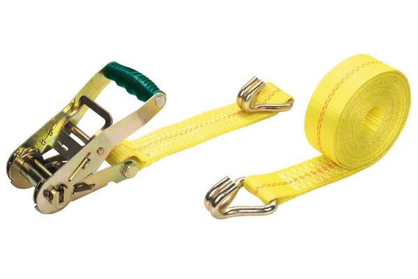 Wolfcraft Cinghia di serraggio a cricchetto con gancio (forza di serraggio 2000 kg), 6 m - 3276000