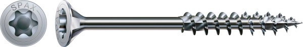 Spax Holzbauschraube, 8 x 260 mm, 50 Stück, Teilgewinde, Senkkopf, T-STAR plus T40, 4CUT, WIROX - 0191010802605