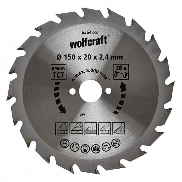 Wolfcraft lama per sega circolare HM, 20 denti