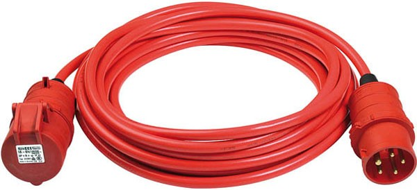Brennenstuhl BREMAXX CEE cordon prolongateur IP44 25m rouge signalisation AT-N07V3V3-F 5G1,5
