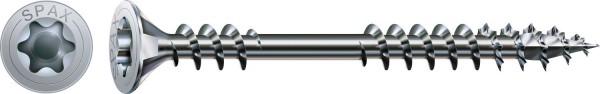 Spax Vite per posa, 4,5 x 60 mm, 500 pezzi, Filettatura di fissaggio, Testa svasata, T-STAR plus T20, 4CUT, WIROX - 0541010450605