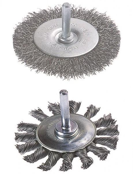 Wolfcraft Brosse métallique circulaire, torsadée, tige 6 mm
