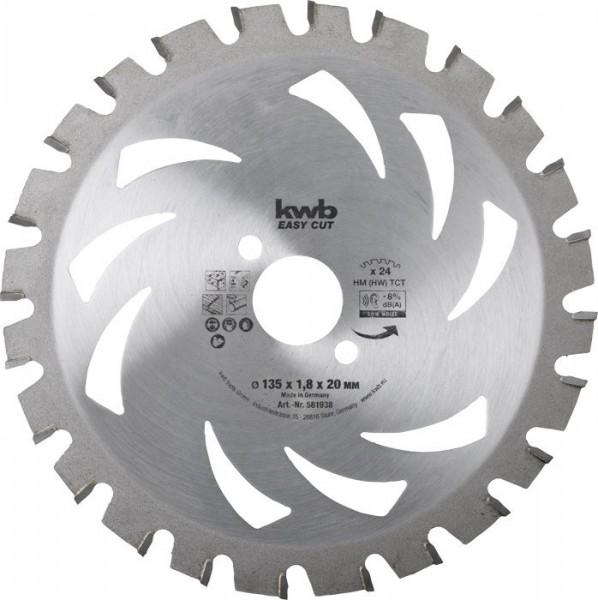 KWB EASY CUT, dun zagend cirkelzaagblad, met hardmetaal versterkt - 581938
