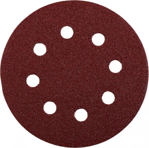 KWB QUICK-STICK schuurschijven, HOUT & METAAL, edelkorund, Ø 125 mm, geperforeerd - 541906
