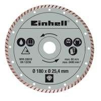 Einhell Disque Diamant Turbo pour BT-TC 600 Ø 180 x Ø 25.4 mm