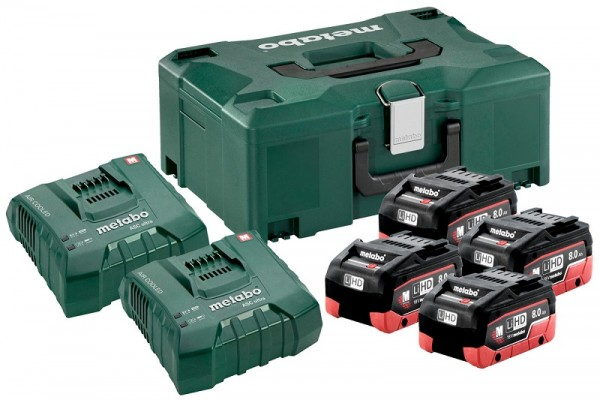 Metabo Basis Set 4 x LiHD 8.0 Ah + 2 x ASC Ultra + Metaloc - 685135000