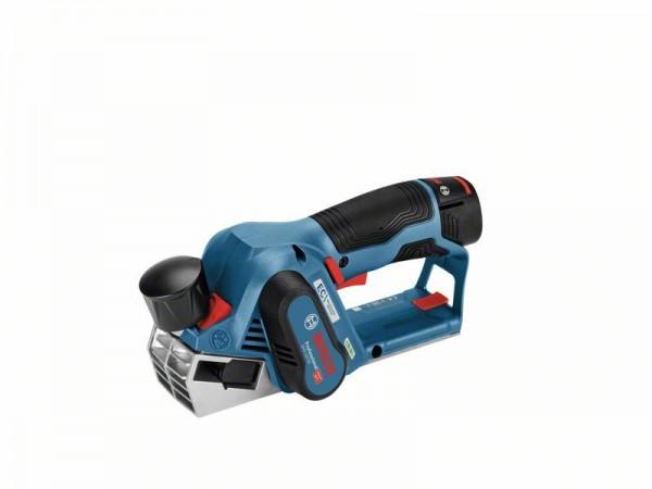 Bosch Professional Akku-Hobel GHO 12V-20, mit 2 x 3,0 Ah Li-Ion Akku, L-BOXX - 06015A7001