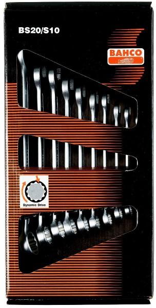 Bahco Jeu de clés mixtes plates 10 pcs en carton, 8-22mm - bs20/s10