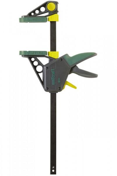 """Wolfcraft """"EHZ PRO 100-700"""" Serre-joint à une main Pro, saillie des mors 100 mm"""