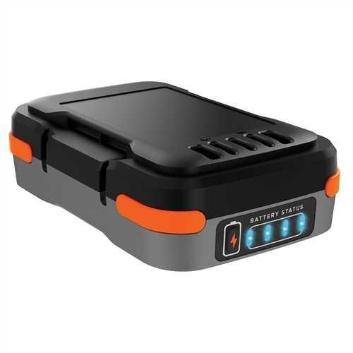 Black & Decker Batteria al litio 12V, 1,5Ah con porte USB, cavo USB in dotazione - BDCB12B-XJ