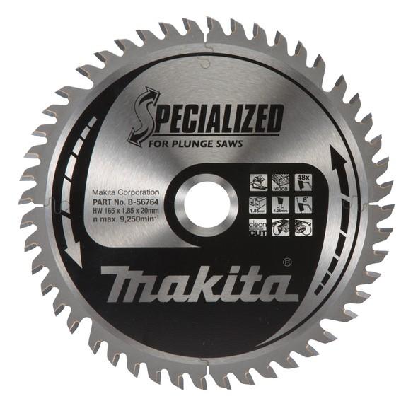 Makita Specialized Zaagblad, 165x20x48T - B-56764