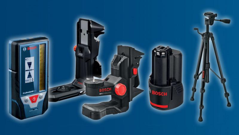 Gamma di accessori per livelle laser