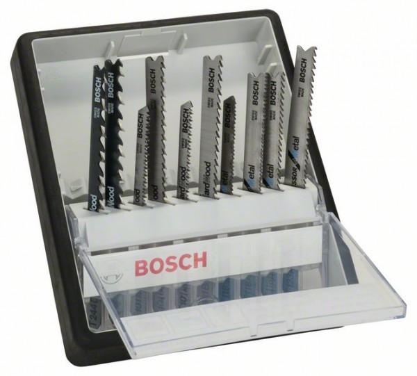 Bosch Stichsägeblatt-Set Robust Line Wood and Metal, T-Schaft, 10-teilig
